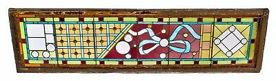 High Victorian Era Stained Glass Window Salvaged From A Prominent Gold Coast Man