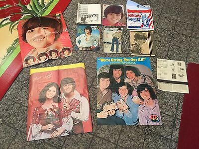 70's Lot 10 Osmonds Donny Osmond Brothers Page Clippings Posters Fan Club Teen