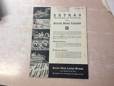 Orig Rare South Bend Lathe Extra Attachment Accessories Catalog No 77-5 Machine