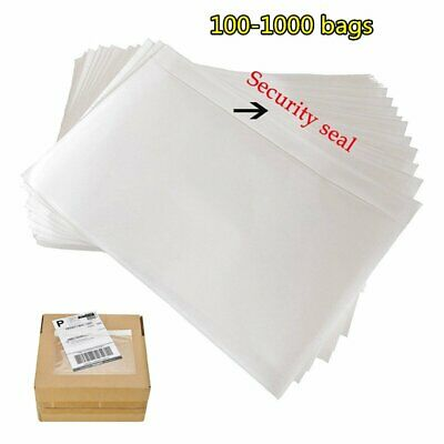 100-1000 7.5x 5.5 Clear Adhesive Top Loading Packing List Label Invoice Envelope