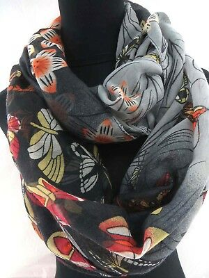 floral butterfly circle loop infinity scarf Fashion Shawl Women gift US Seller