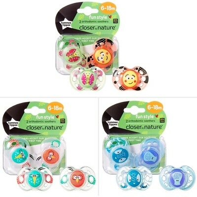 Tommee Tippee Closer To Nature Fun Style 6-18 Month 2 Pack - Assorted*