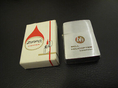 Vintage 1962 Zippo Bell Helicopter Company Pat.2517191 With Box  Fort Worth, Ama