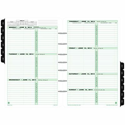 Day-Timer Refill Planner Refills 2018 Two Page Per Week January December 5-1/2""