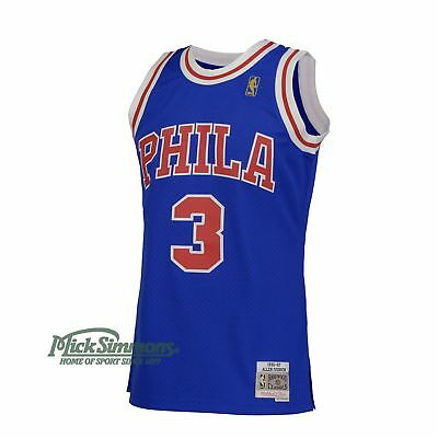 Philadelphia 76ers Allan Iverson 1996-97 Hardwood Classics Road Jersey by Mit...