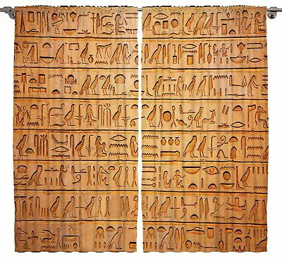Egyptian Hieroglyphics Great Pyramid Papyrus Magical Ancient Decor Stone Carving