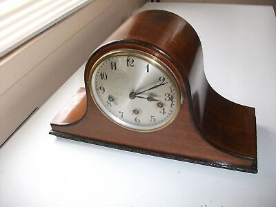 Junghans Westminster Chiming  Mantle Clock  Early 1900's Napoleons Hat Style