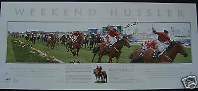 Weekend Hussler Limited Edition Print Hand Signed Mcdonald - Rawiller Winx