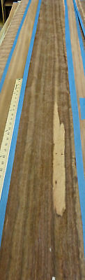 """Goncalo Alves Tigerwood wood veneer 8/"""" x 135-148/"""" raw no backing 1//42/"""" thickness"""