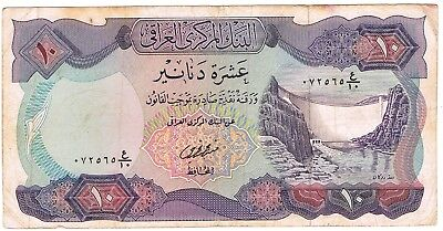 1973 ND Iraq 10 Dinars (1978) Issue Central Bank of Iraq Circulated Note Pick-65