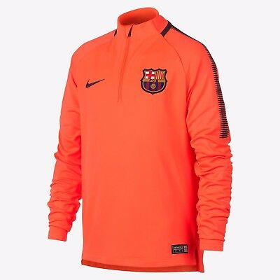 491f9d20c NIKE FC BARCELONA YOUTH DRY SQUAD DRILL TRAINING TOP Hyper Crimson Night  Maroon