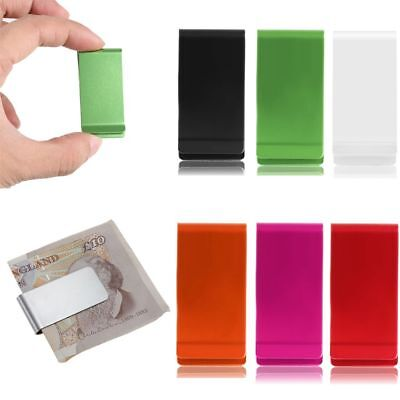 Men's New Stainless Steel Cash Money Clip Slim Credit Card Holder Wallet Purse