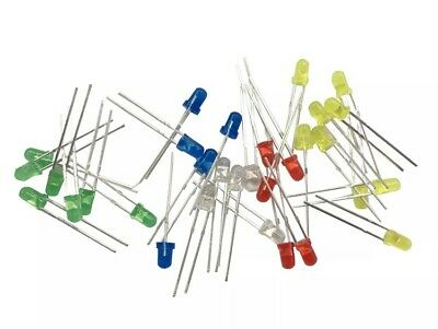 LEDS Light Emitting Diodes Multicoloured 100 Pieces 3mm