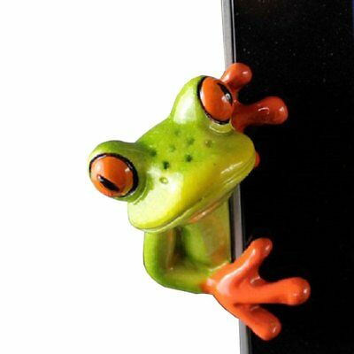 YOHEE Resin Creative 3D Craft Frog Decoration Office Desk Computer Decoration