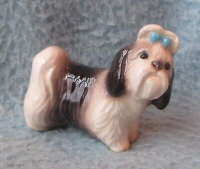 Vintage Japan? Mini Shih Tzu Dog Figure Figurine