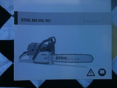 STIHL MS660 Owners manual