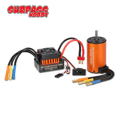 New Set Surpass 3660 Brushless Motor 3300KV& 60A ESC für 1/10 RC Auto LKW Car DE
