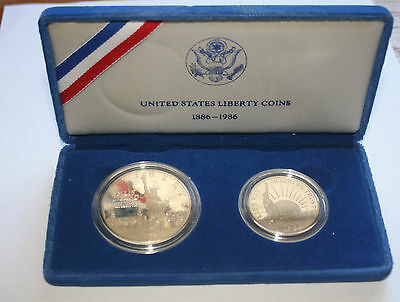 United States Liberty Coins 1886 - 1986 Set of 2 coins
