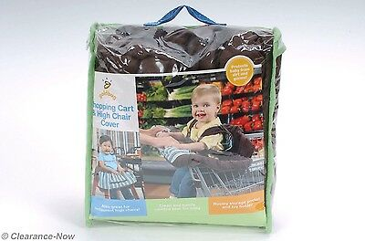 Blue Striped Baby Shopping Cart & High Chair Cover By Goldbug New w/Tags 5160