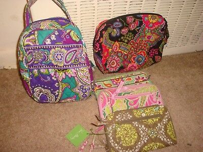 Vera Bradley Lot Of 5 Lunch/Cosmetic/Wallets Floral Print