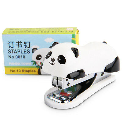 6*2.5*4cm Panda Mini Desktop Heftgerät, Tacker Handtacker &Home Office Hefter ~