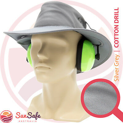 Earmuff Hat Australian Made Lawn Mowing and Whipper Snipper Gardening Sun Hat