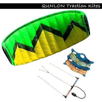 3m² Quad Line Traction Kite with Tools Trainer Kite for Kitesurfing Beginner