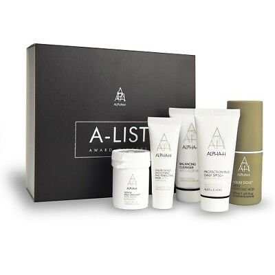 Alpha-H A-List Skincare Kit Cleanser Exfoliant Protection SPF50 Liquid Gold Mask