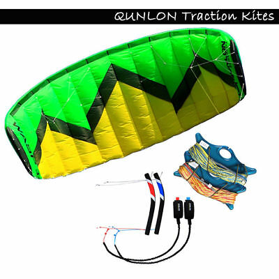 3m²  4 Line Green Powerkites with Handles Trainer Kite for Beginner Surfing