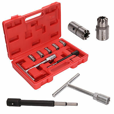 Professional 7PC Injector Seat Cutter Cleaner Tool Set Carbon Remover Case UK