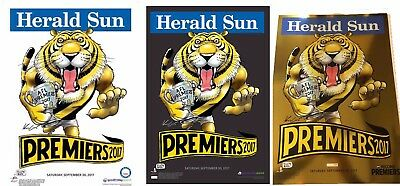 2017 Richmond Black White Gold Foil Limited Edition Premiers Mark Knight Poster
