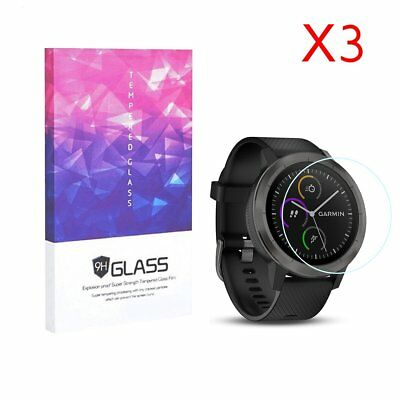 For Garmin Vivoactive 3 Tempered Glass Screen Protector 9H Hardness (3 Packs)