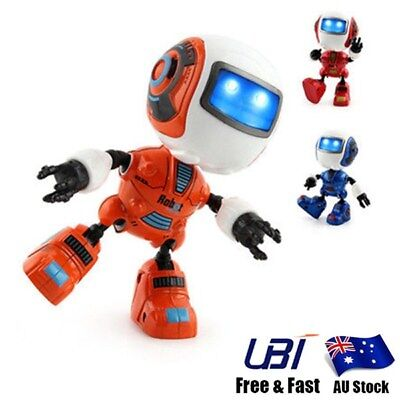 Mini Sensing Light Musical Robot Alloy Induction Space Robot Toys Xmas Boy Gifts