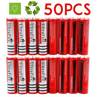 Lot 18650 3.7V 4000mAh Li-ion BRC Rechargeable Battery For Flashlight Torch USA
