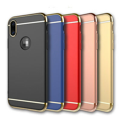 For iPhone X 10 Case Hard Plating Shell Shockproof 3 in 1 Ultra Slim Luxury PC