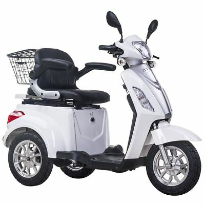 Easy Rider Electric mobility scooter Adult Moped 8mph Road legal 3 Wheeled WHITE