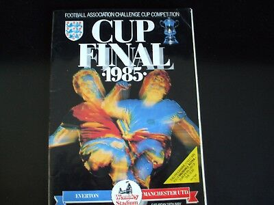 CUP FINAL PROGRAMME 1985 - Everton vs. Manchester United