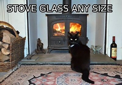 Heat Resistant Stove Glass Cut To Any Size Or Shape - Woodburners and Multi Fuel