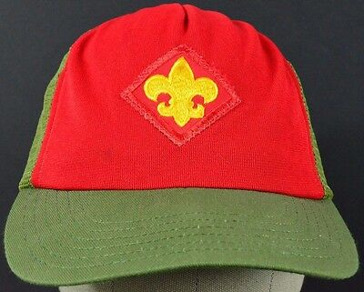 Red Boy Scout Saint Patch embroidered baseball hat cap adjustable snap back.