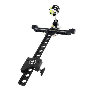 1-Pin 4x CNC Archery Compound Bow Sight Zoom with Micro Adjustable Long Pole