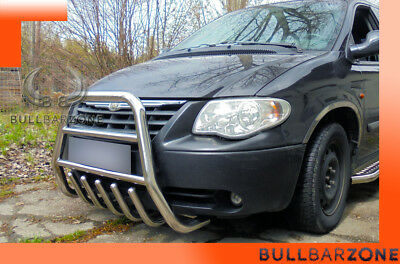 Chrysler Grand Voyager 00-07 Tubo Protezione Alto Bull Bar Inox Stainless Steel
