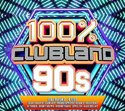 100% Clubland 90's 4 Cd Set Various Artists - New Release November 2017