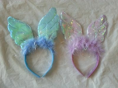 Feather Fairy Angel Headband Kids Fancy Dress Accessory Blue Purple