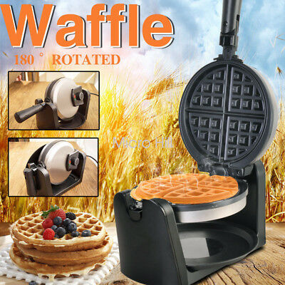 Electric Egg Cake Oven Iron Waffle Bread Maker Snack Press Toaster Non Stick 1KW