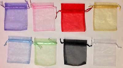 10 Organza Jewelry Bags 10x12 Purple/Pink/Red/Gold/Blue/Green/Black/White