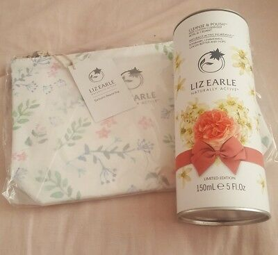 Liz Earle Cleanse and Polish 150ml- Rose & Cedrat-Ltd edition- with 2 muslin...