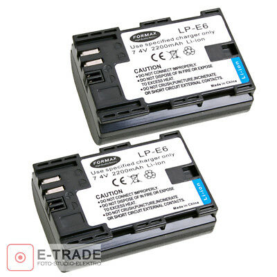 2x LP-E6 2200mAh INFOCHIP Battery for Canon EOS 5D Mark II III 5DS 6D 60D 7D 70D
