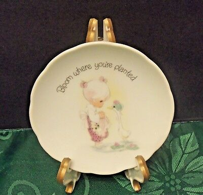 """Precious Moments """"BLOOM WHERE YOU'RE PLANTED"""" Gift Plate 1980"""