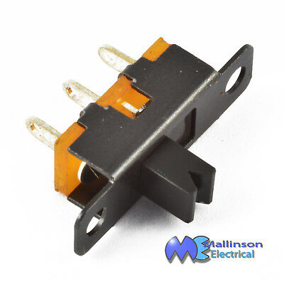 2 position Single pole slide switch SP2T 50vdc 500mA
