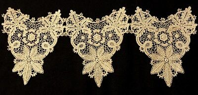 Old Gorgeous Victorian Floral Pattern Off-white Schiffly or Chemical Lace Decor